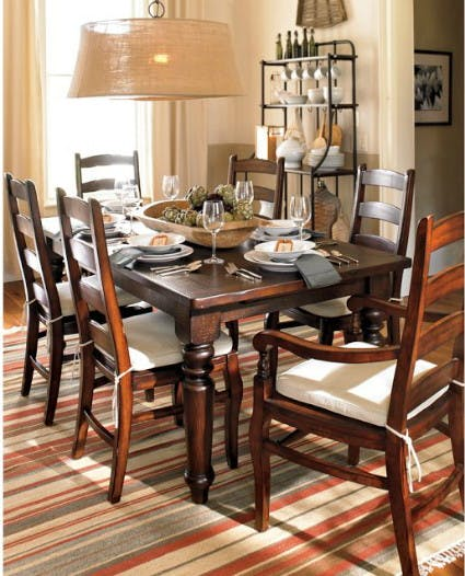 Knockout Knockoffs Pottery Barn Sumner Dining Table Inspiration Room The Krazy Coupon Lady