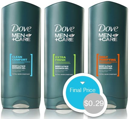 Dove Men Care Body Wash Only 0 29 At Rite Aid The Krazy Coupon Lady
