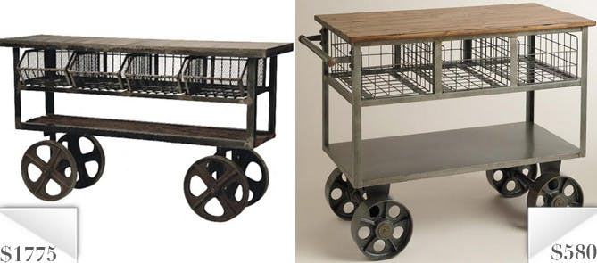 Knockoff Industrial Kitchen Cart At Cost Plus For 67 Less The Krazy Coupon Lady