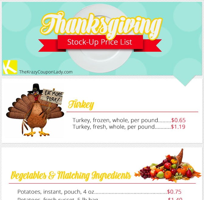 8 Amazing Ways To Save 40 On Thanksgiving Dinner The Krazy Coupon Lady