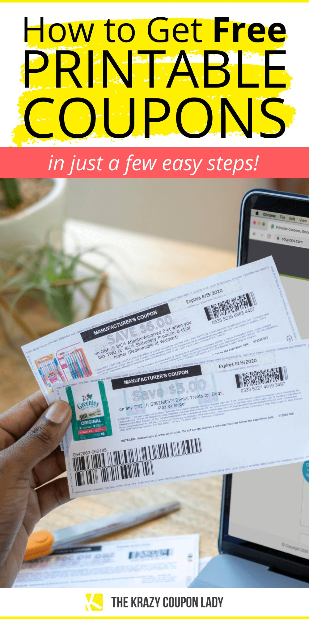 Get Free Printable Coupons In A Few Easy Steps The Krazy Coupon Lady