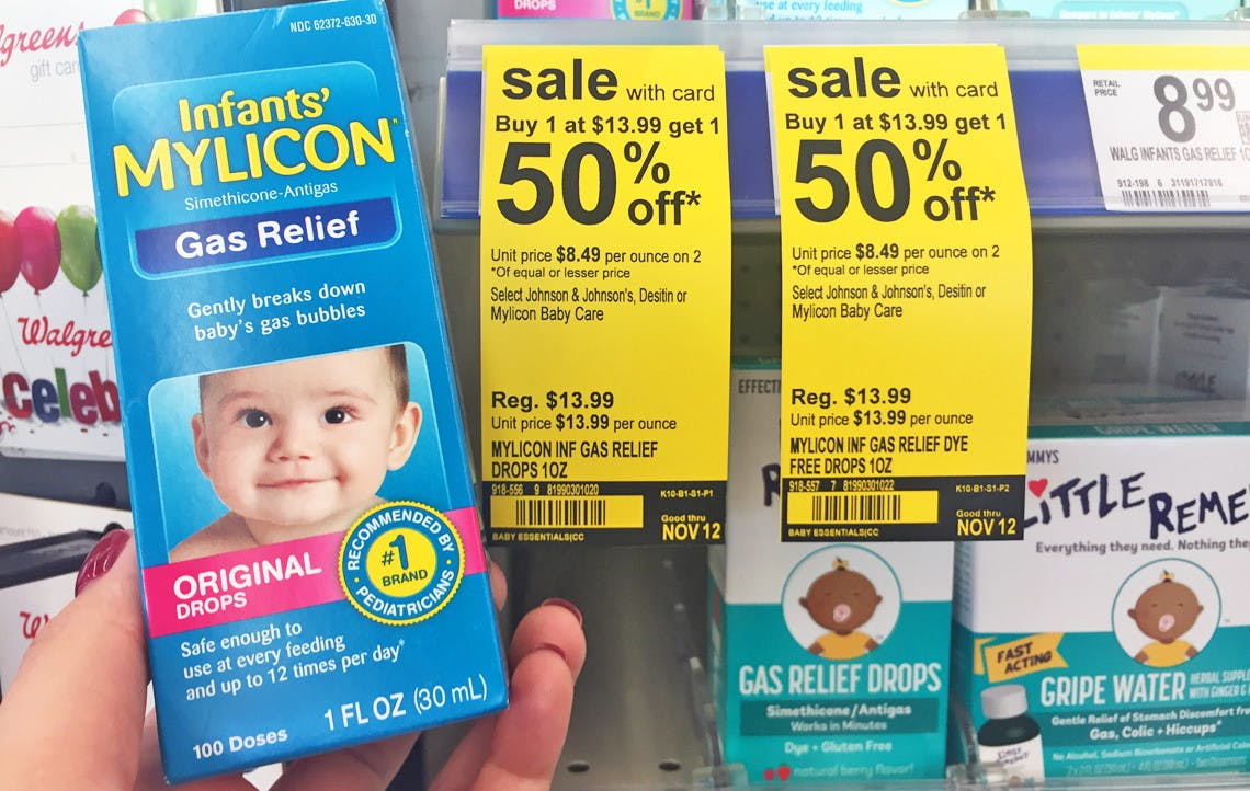 Infants Mylicon Gas Relief Drops Only 4 09 At Walgreens The Krazy Coupon Lady