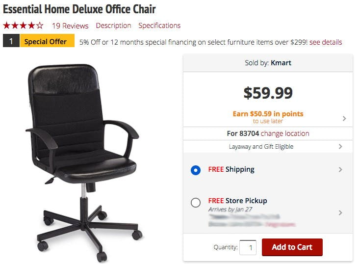 Deluxe Office Chair Or Corner Tv Stand Only 7 50 At Kmart The Krazy Coupon Lady