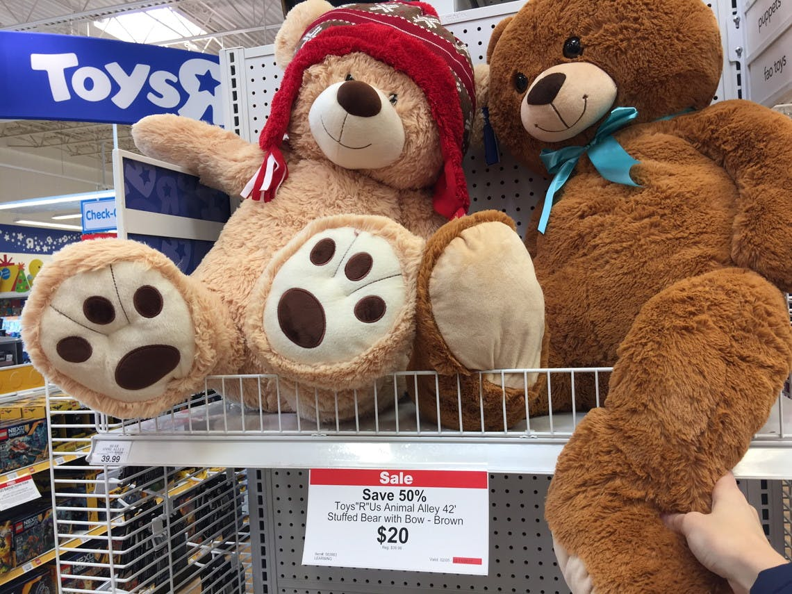 Unicorn Teddy Bear Toys R Us, Animal Alley 42 Stuffed Bear Only 19 99 Shipped At Toys R Us The Krazy Coupon Lady