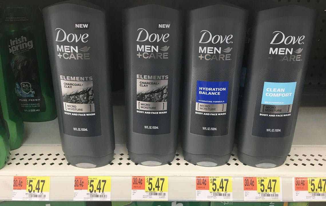 Dove Men Care Body Wash 2 72 At Walmart Save 50 The Krazy Coupon Lady