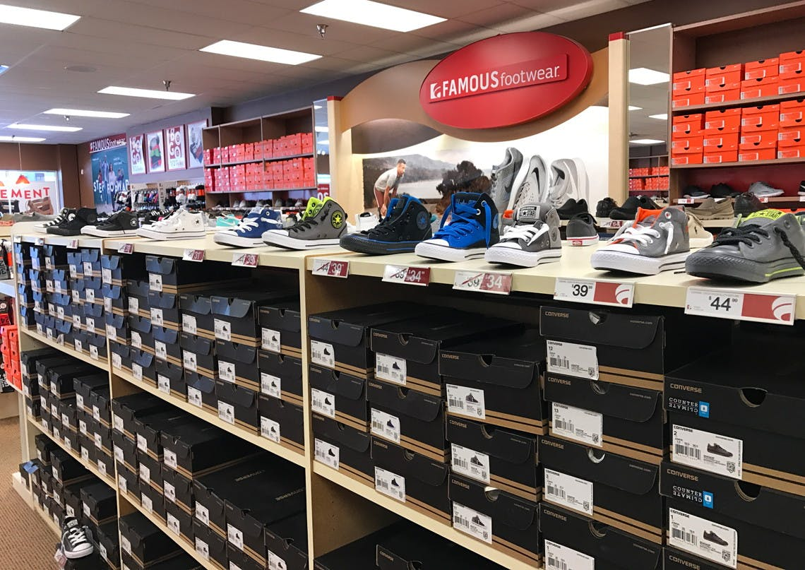 Low as $16.99 at Famous Footwear