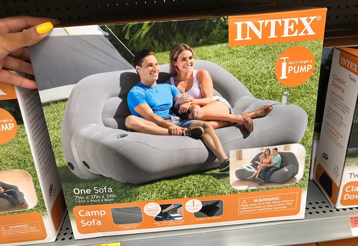 Intex Inflatable Camping Sofa Only 27 18 At Walmart Reg 39 88 The Krazy Coupon Lady