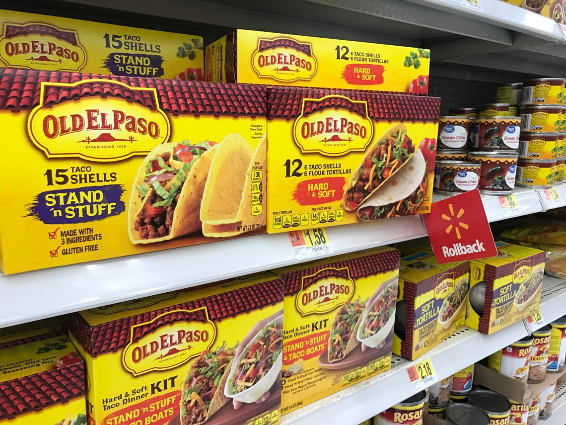 Old El Paso Taco Shells Only 1 08 At Walmart The Krazy Coupon Lady