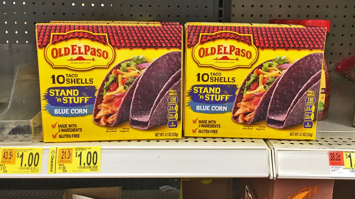 Old El Paso Blue Corn Stand N Stuff Taco Shells Only 0 25 At Walmart The Krazy Coupon Lady