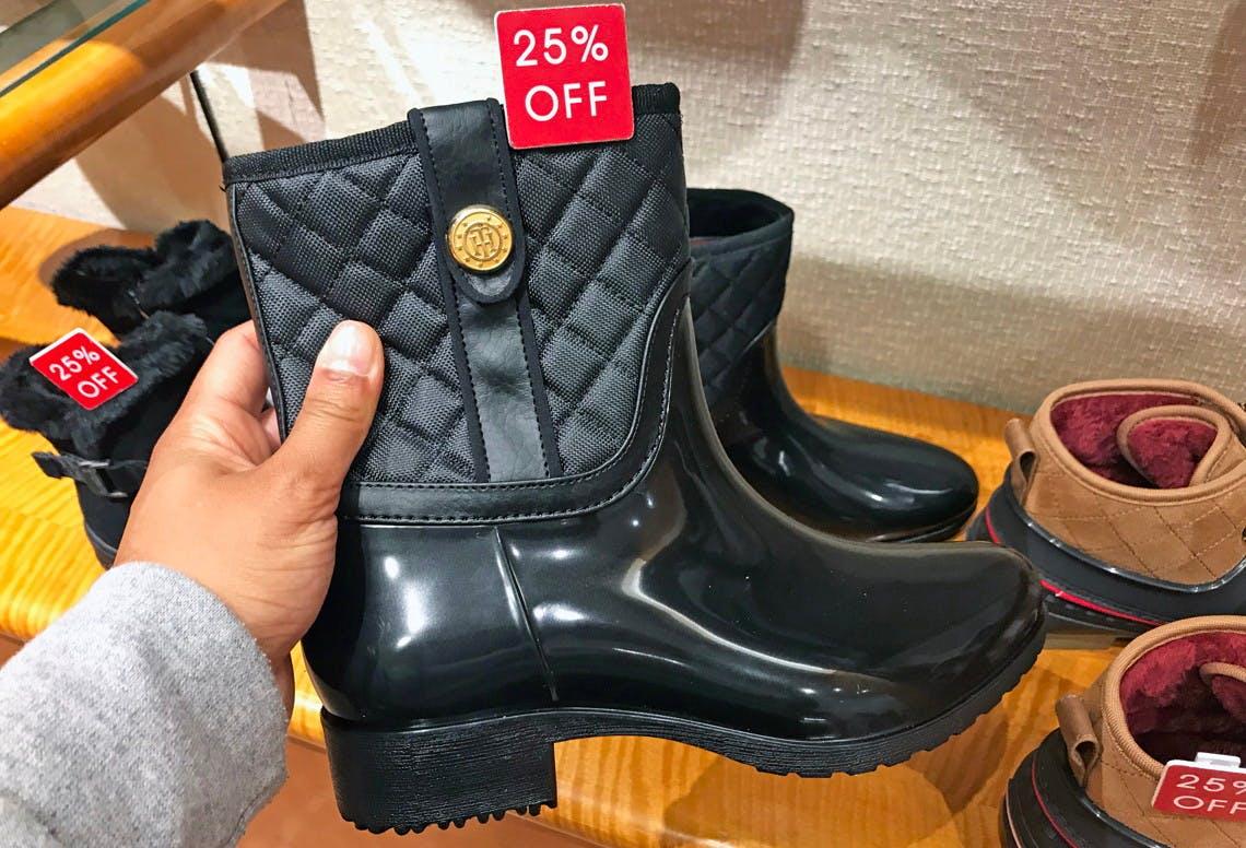 macy's tommy hilfiger rain boots