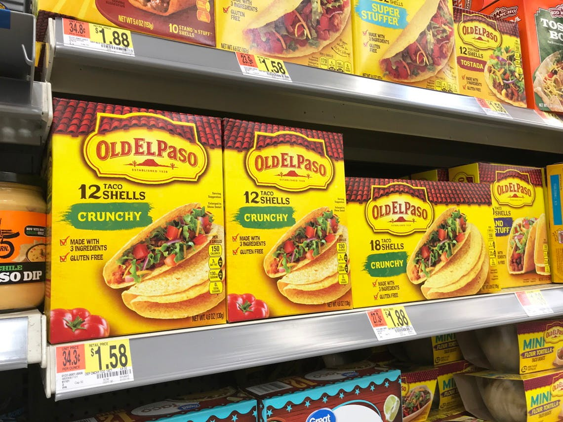 Old El Paso Crunchy Taco Shells And Avocados Only 0 15 Each At Walmart The Krazy Coupon Lady