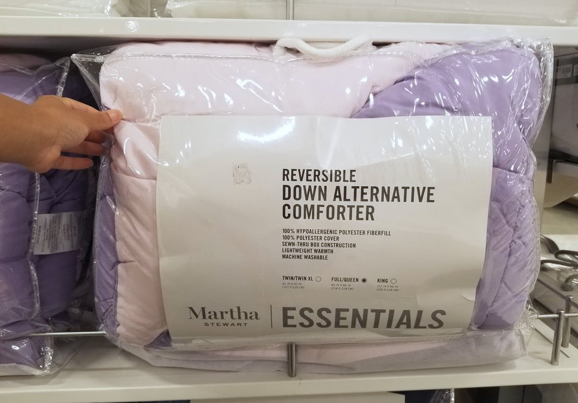 King Size Martha Stewart Reversible Down Alternative Comforter