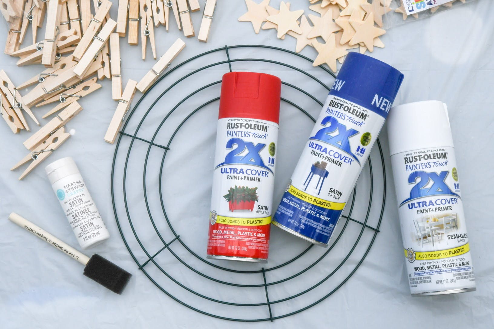 The Easiest Diy Fourth Of July Clothespin Wreath You Ll Ever Make The Krazy Coupon Lady