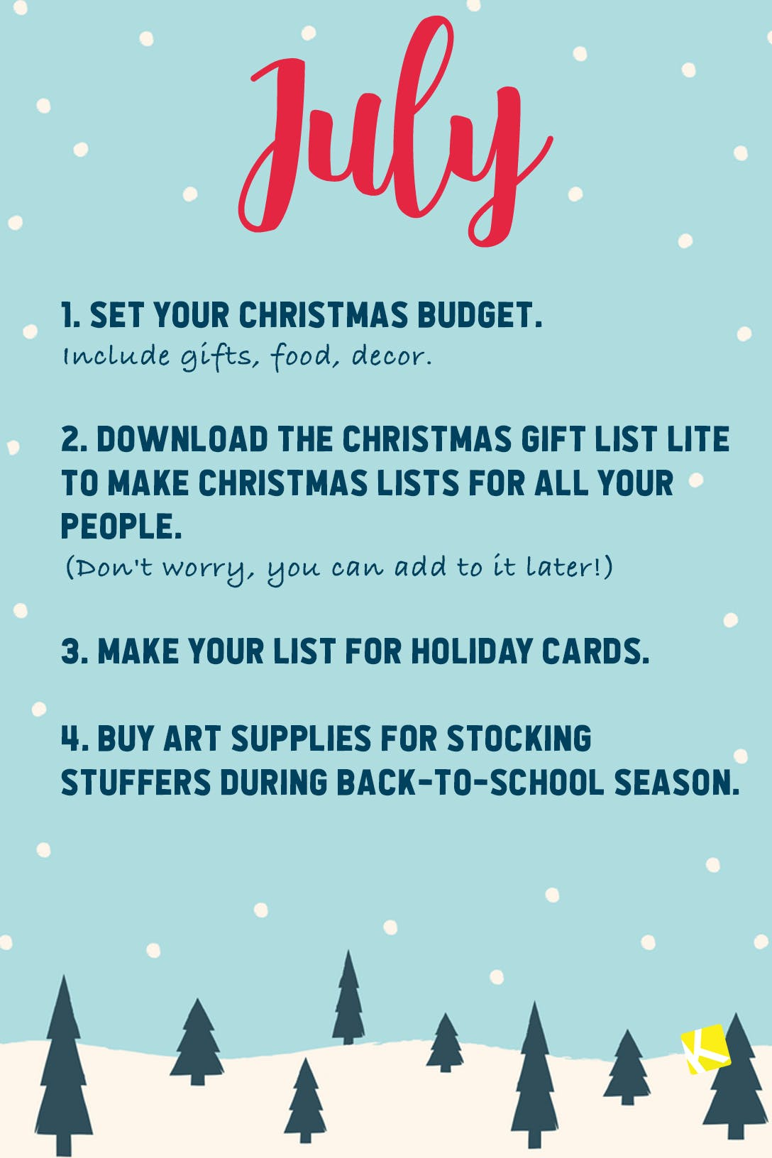 Get Your Early Christmas On With This Christmas To Do List The Krazy Coupon Lady