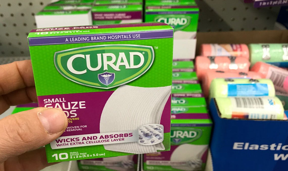 Free Curad Gauze Pads At Dollar Tree The Krazy Coupon Lady