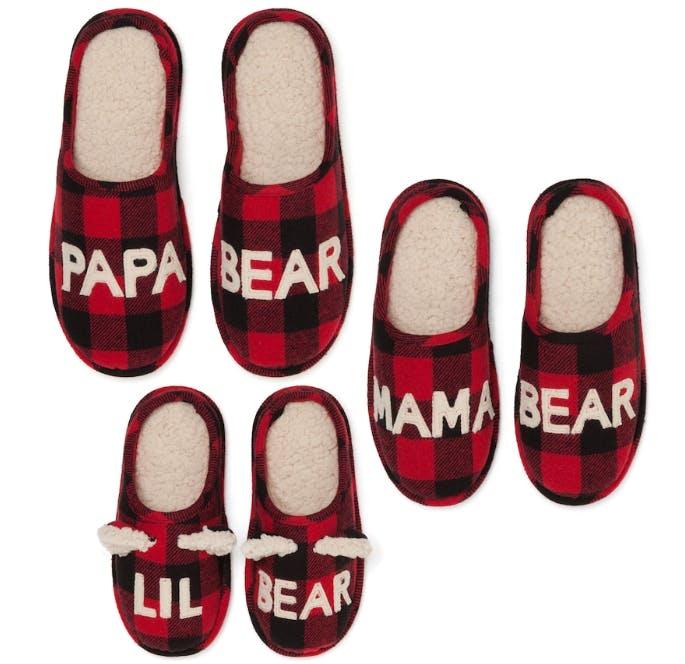 Dearfoams Bear Family Frenzy Slippers