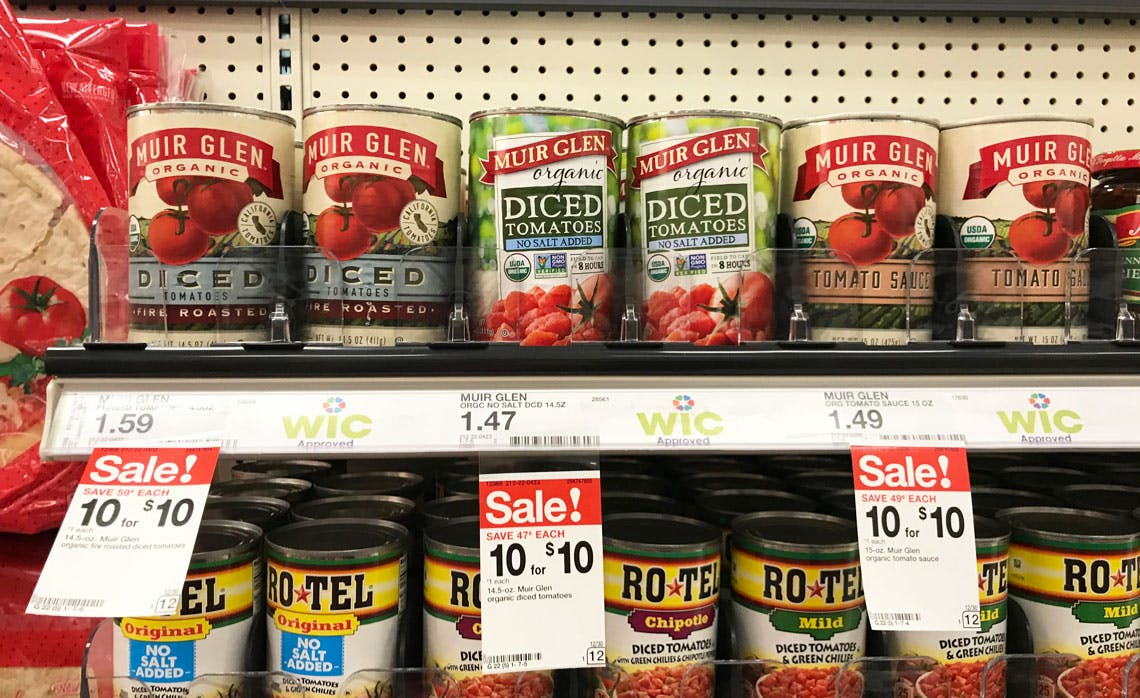 Muir Glen Diced Tomatoes Only 0 50 At Target The Krazy Coupon Lady