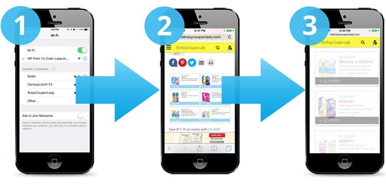 How To Print Coupons From Your Phone The Krazy Coupon Lady