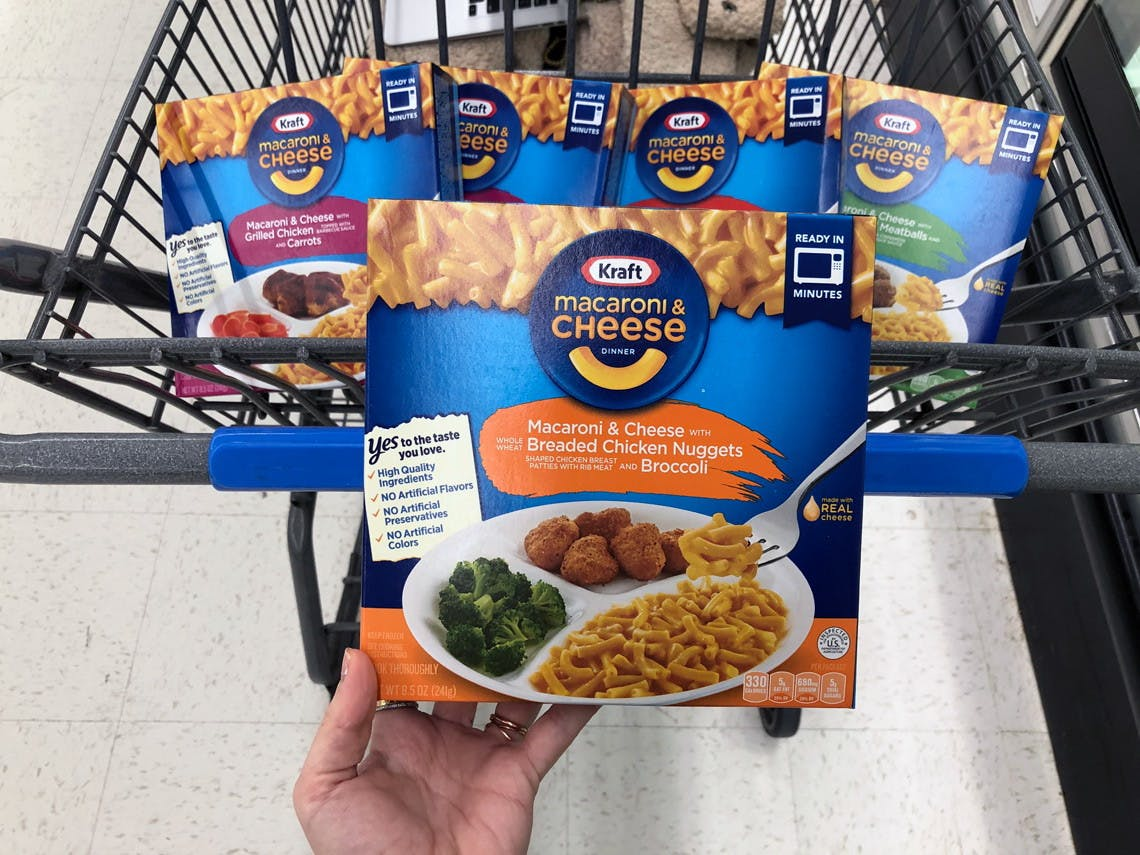 Kraft Mac Cheese Frozen Dinner As Low As 0 98 At Walmart The Krazy Coupon Lady