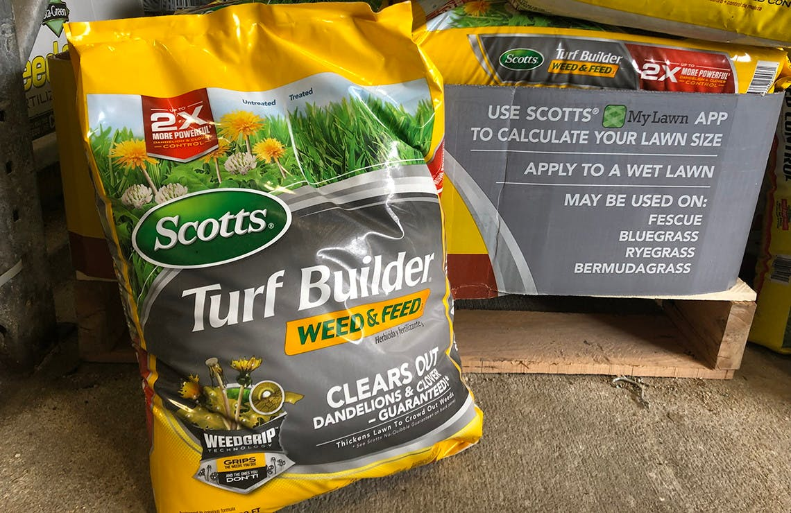 Scotts Turf Builder Weed Feed Lawn Food 15 At Lowe S The Krazy Coupon Lady