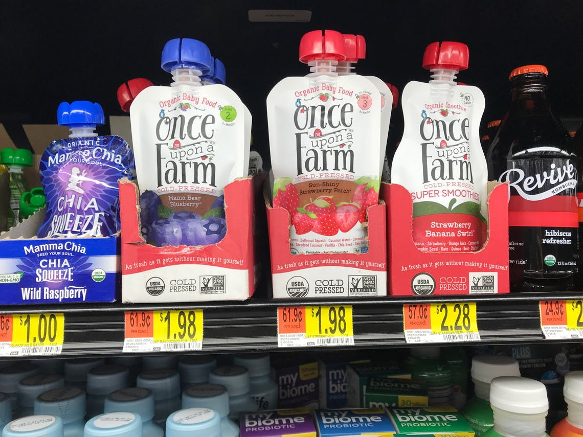 Once Upon A Farm Organic Baby Food As Low As 1 48 At Walmart The Krazy Coupon Lady