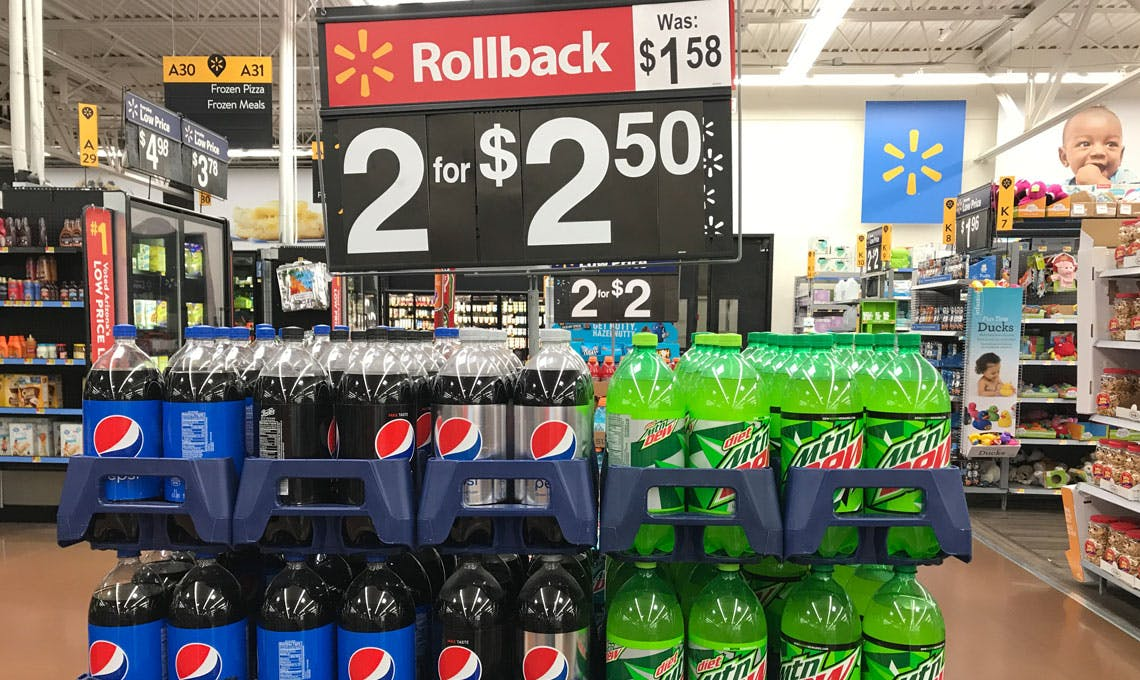Rollbacks On Coca Cola Pepsi Mtn Dew At Walmart The Krazy Coupon Lady