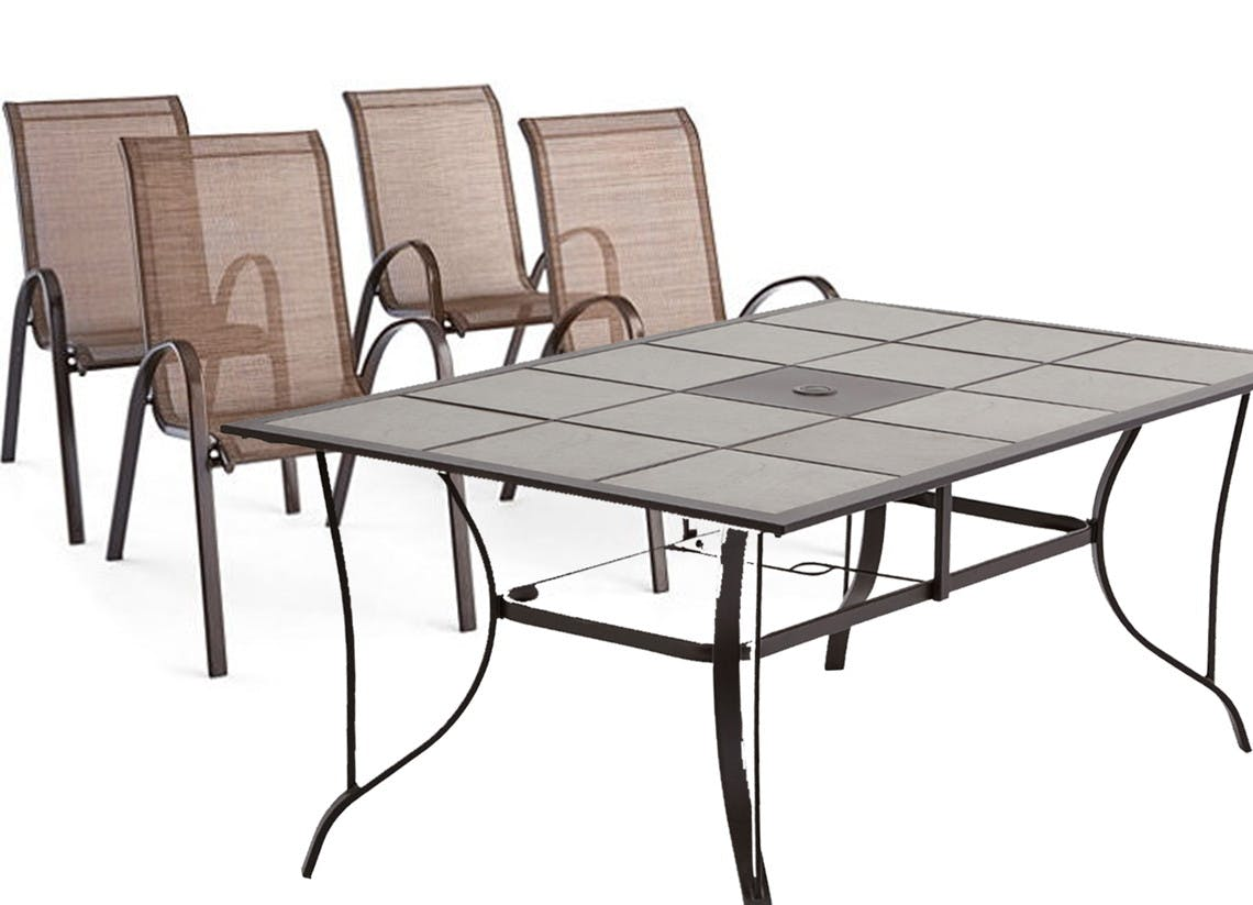 Patio Dining Table 4 Chairs 219 At