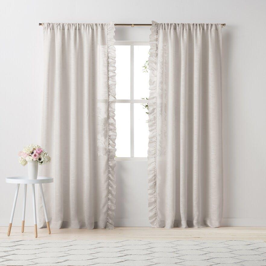 Lauren Conrad Ruffle Curtain Panels As