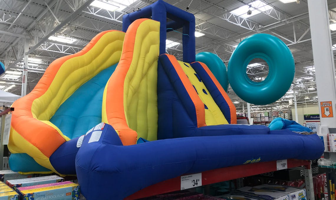 Splash And Slide Inflatable Water Slide Just 200 At Sam S Club The Krazy Coupon Lady
