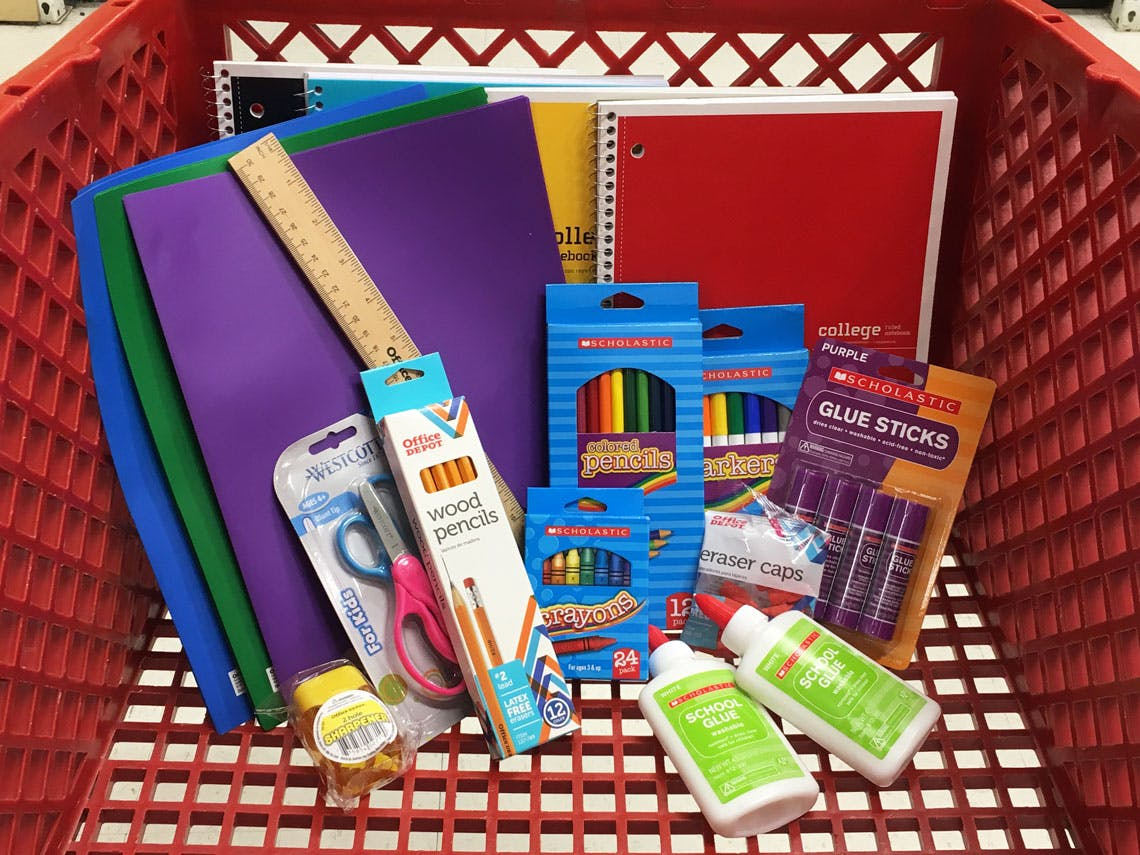 measure the savings 20 school supplies for 10 at office depot the krazy coupon lady supplies for 10 at office depot