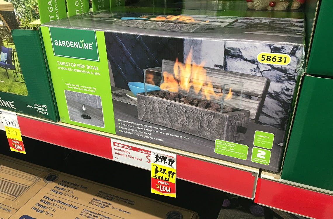 Picture of: Gardenline Tabletop Fire Bowls Only 29 99 At Aldi The Krazy Coupon Lady