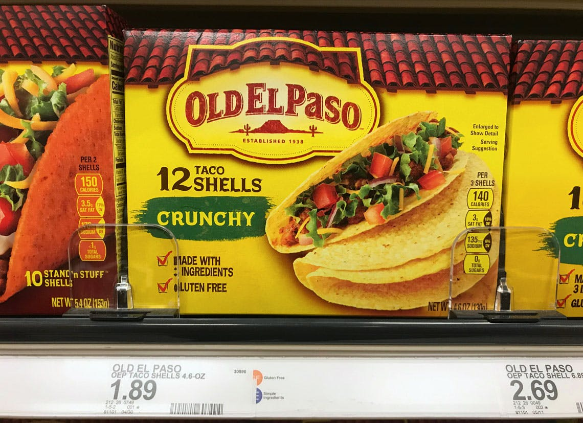 Old El Paso Taco Shells Only 0 70 At Target The Krazy Coupon Lady