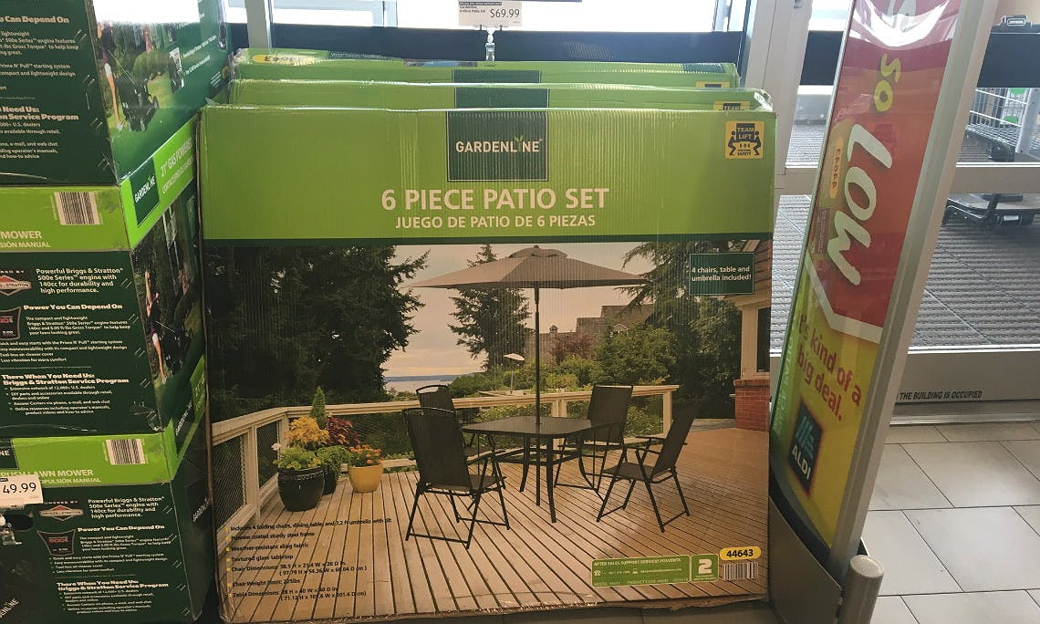 Gardenline 6 Piece Patio Set Only 69 99 At Aldi The Krazy Coupon Lady