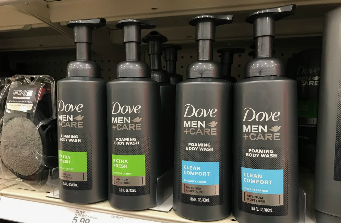 Dove Men Care Foaming Body Wash Only 1 49 At Target The Krazy Coupon Lady