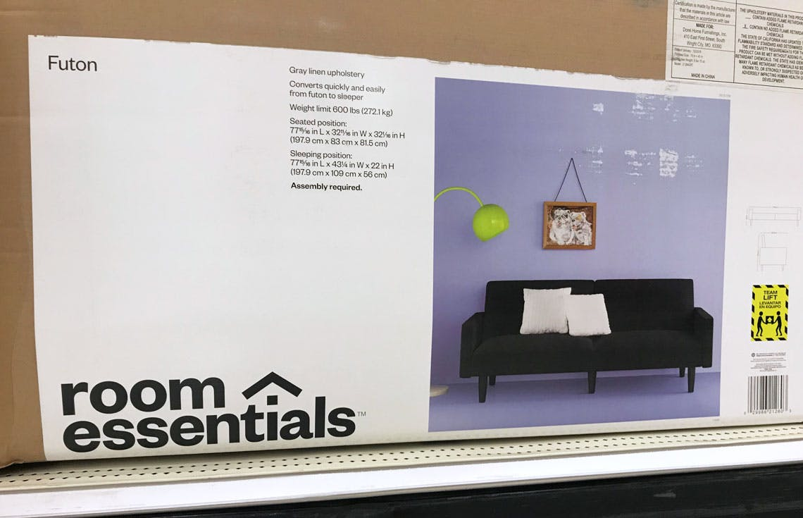 Room Essentials Futon As Low As 57 94 At Target The Krazy Coupon Lady