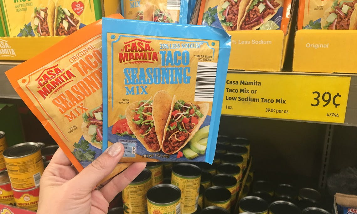Casa Mamita Taco Seasoning Only 0 14 At Aldi The Krazy Coupon Lady
