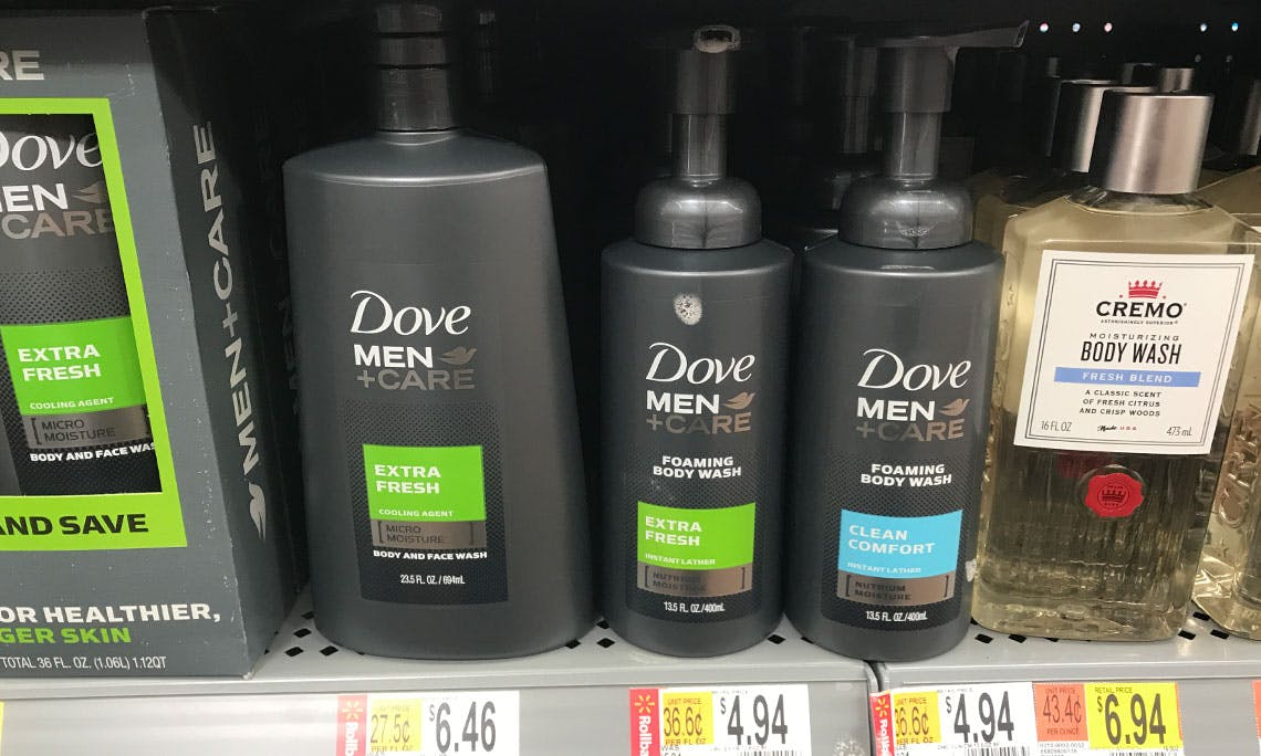 Dove Men Care Foaming Body Wash 1 44 At Walmart The Krazy Coupon Lady