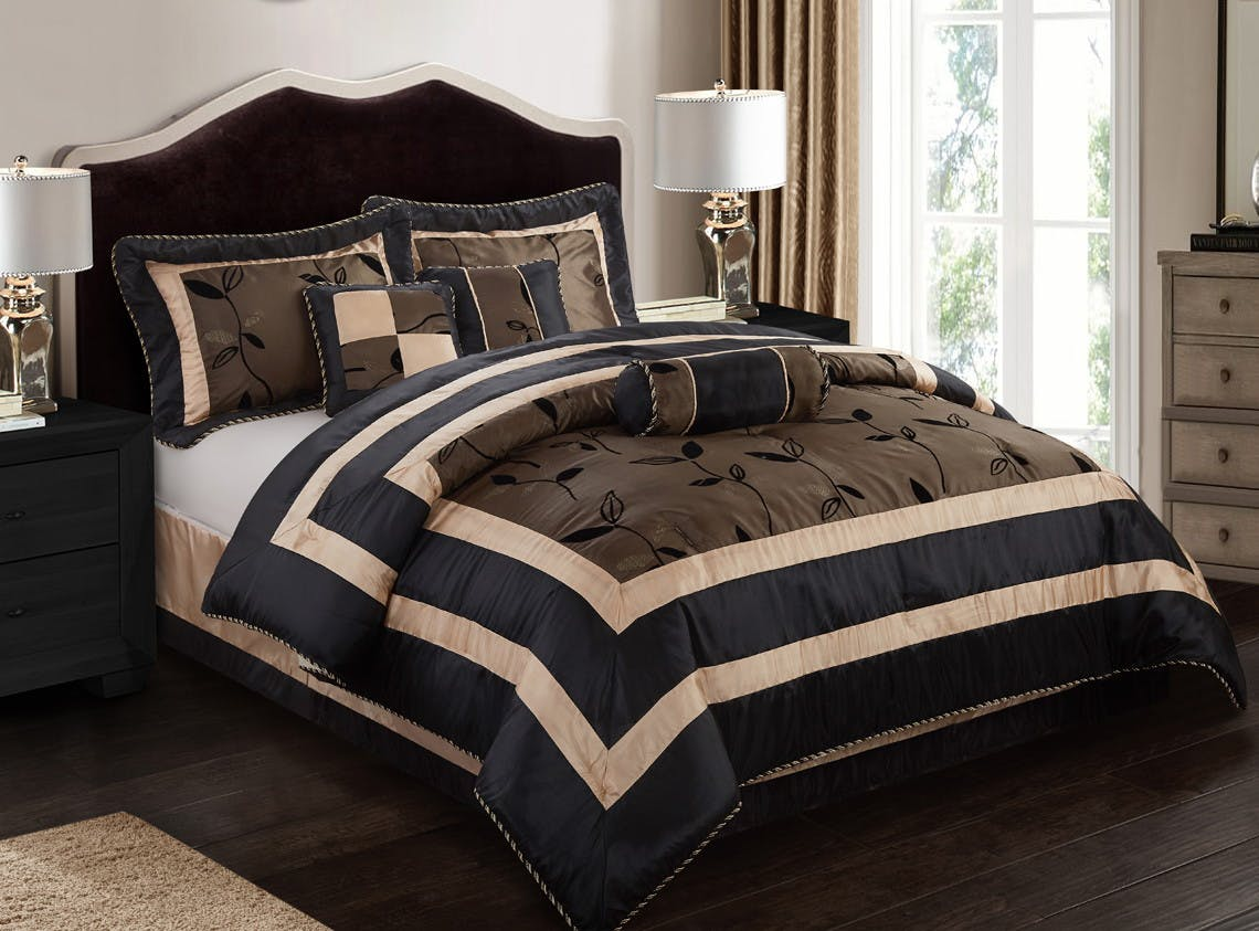 Walmart 7 Piece Comforter Set Only 20 Full King Or Cali King The Krazy Coupon Lady