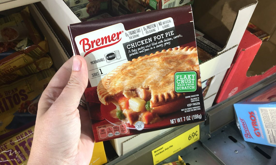 Bremer Chicken Pot Pies Only 0 69 At Aldi The Krazy Coupon Lady