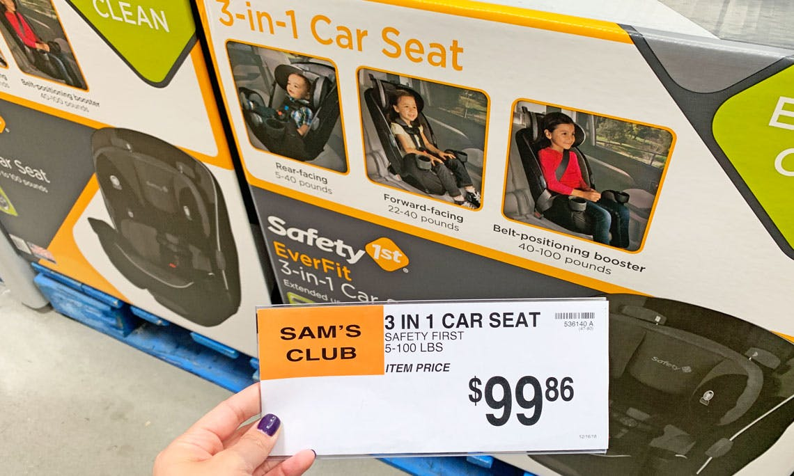 Safety First 3 In 1 Car Seat Only 99 86 At Sam S Club The Krazy Coupon Lady