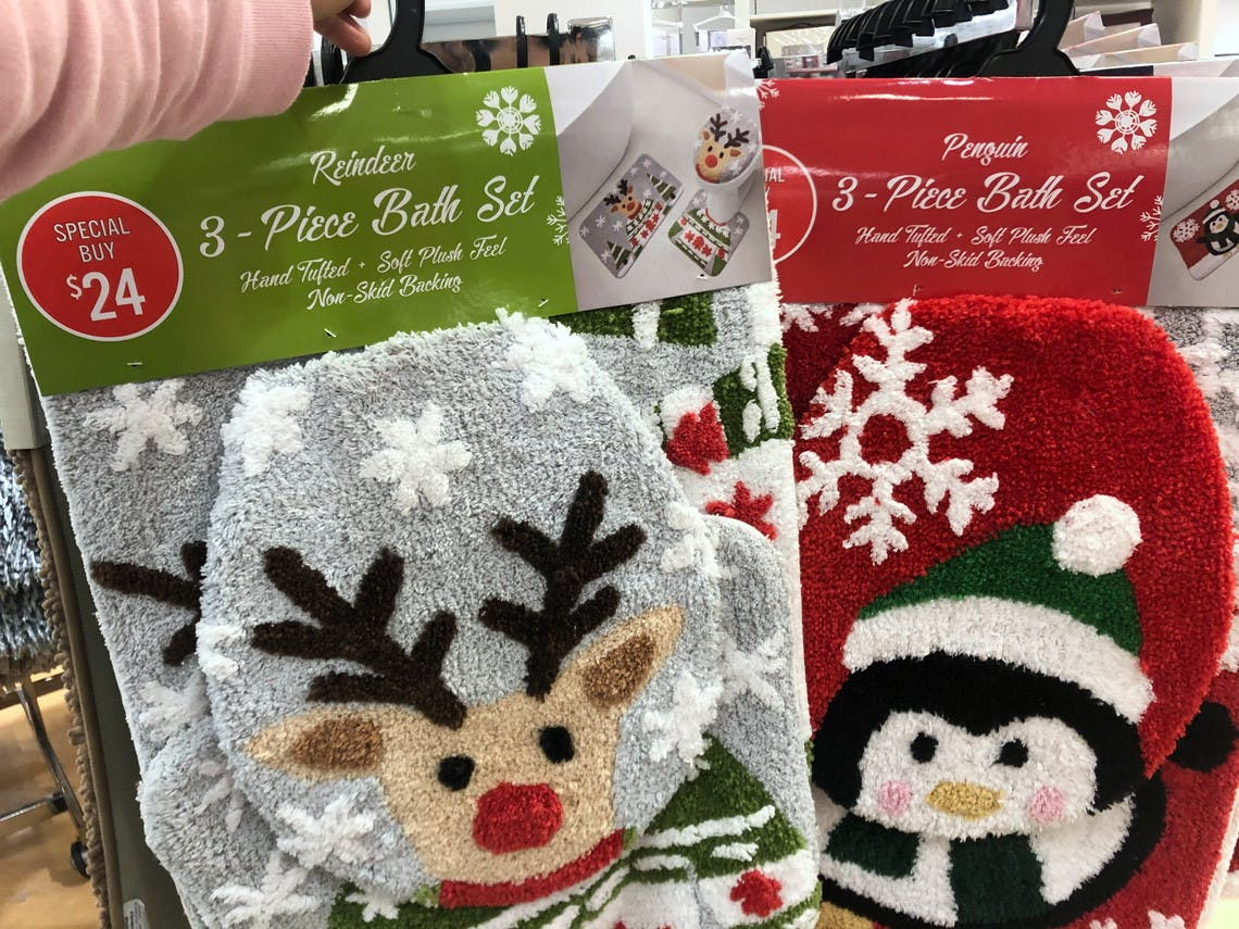 $9 Holiday Bathroom Rug Set at JCPenney! - The Krazy Coupon Lady