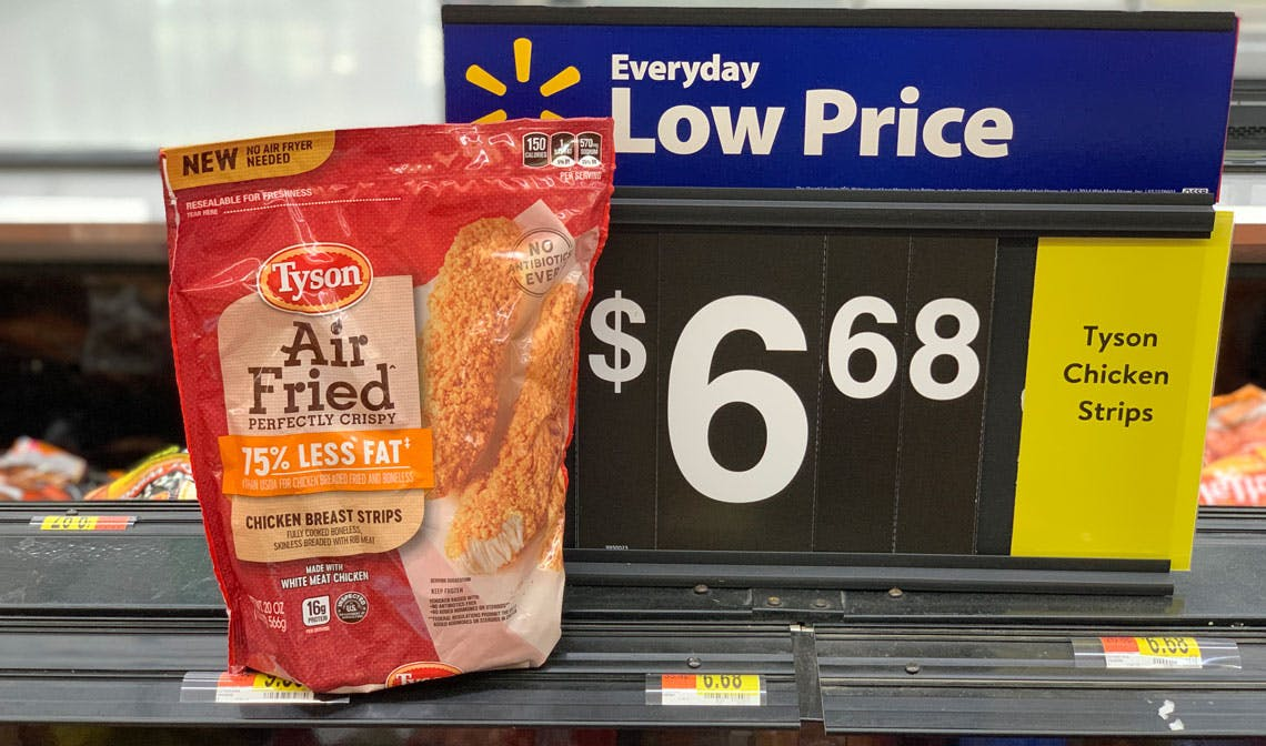 Save 1 25 On Tyson Air Fried Chicken 5 43 At Walmart The