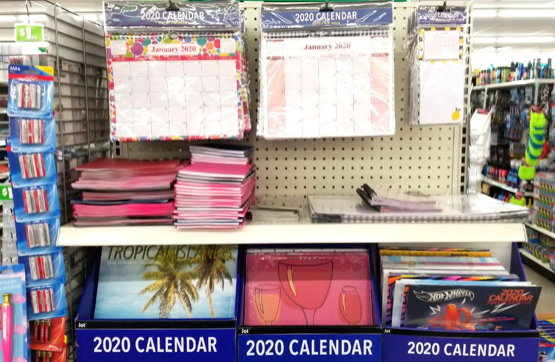 Get A New 2020 Calendar At Dollar Tree The Krazy Coupon Lady