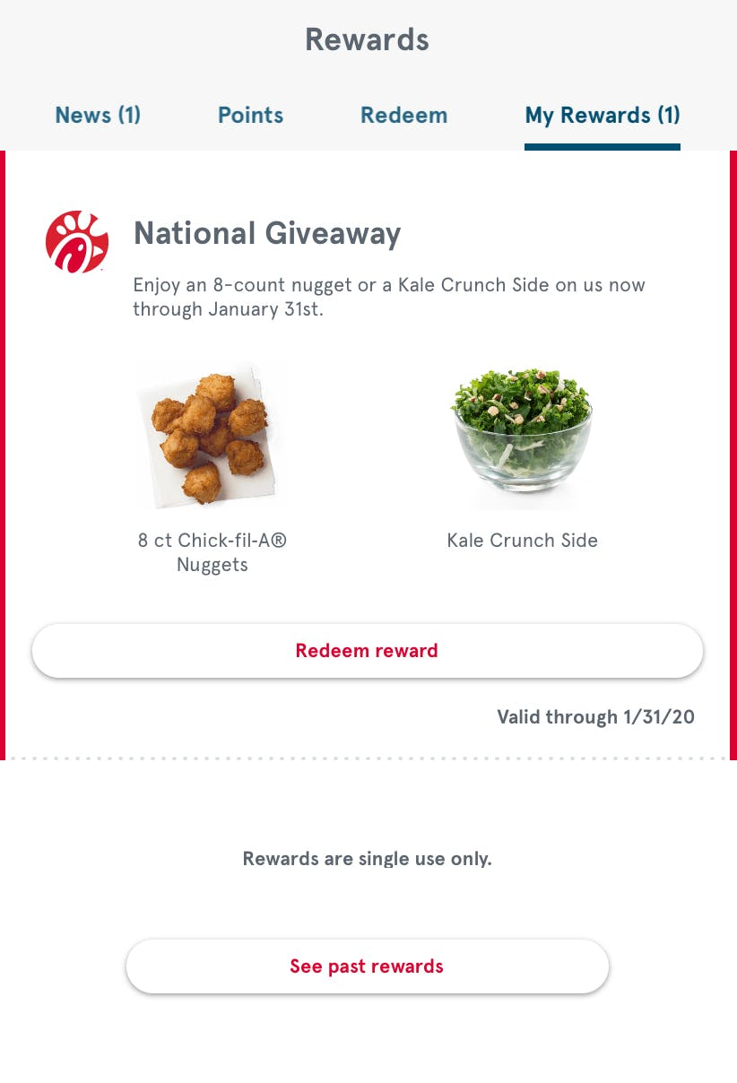 Get Free Nuggets Or Kale Salad At Chick Fil A In January The Krazy Coupon Lady