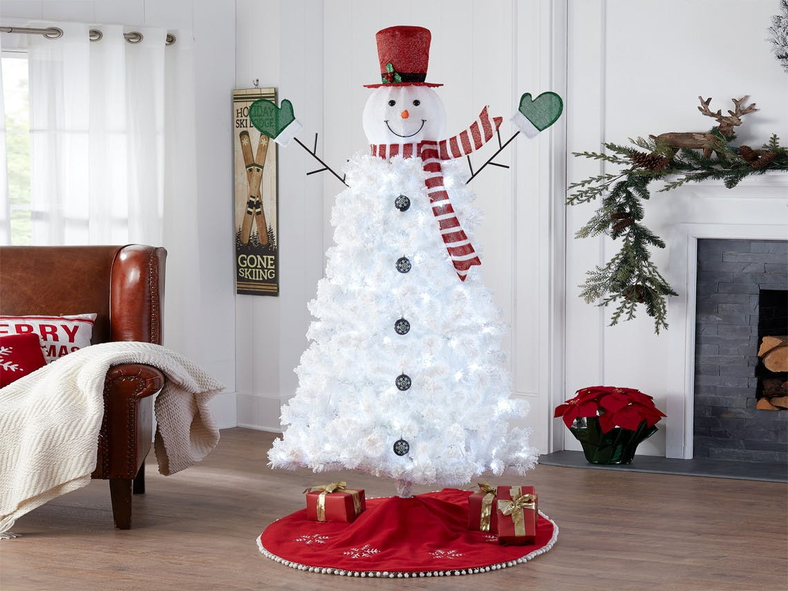 6 5 Pre Lit Snowman Christmas Tree Just 22 On Walmart Com The Krazy Coupon Lady