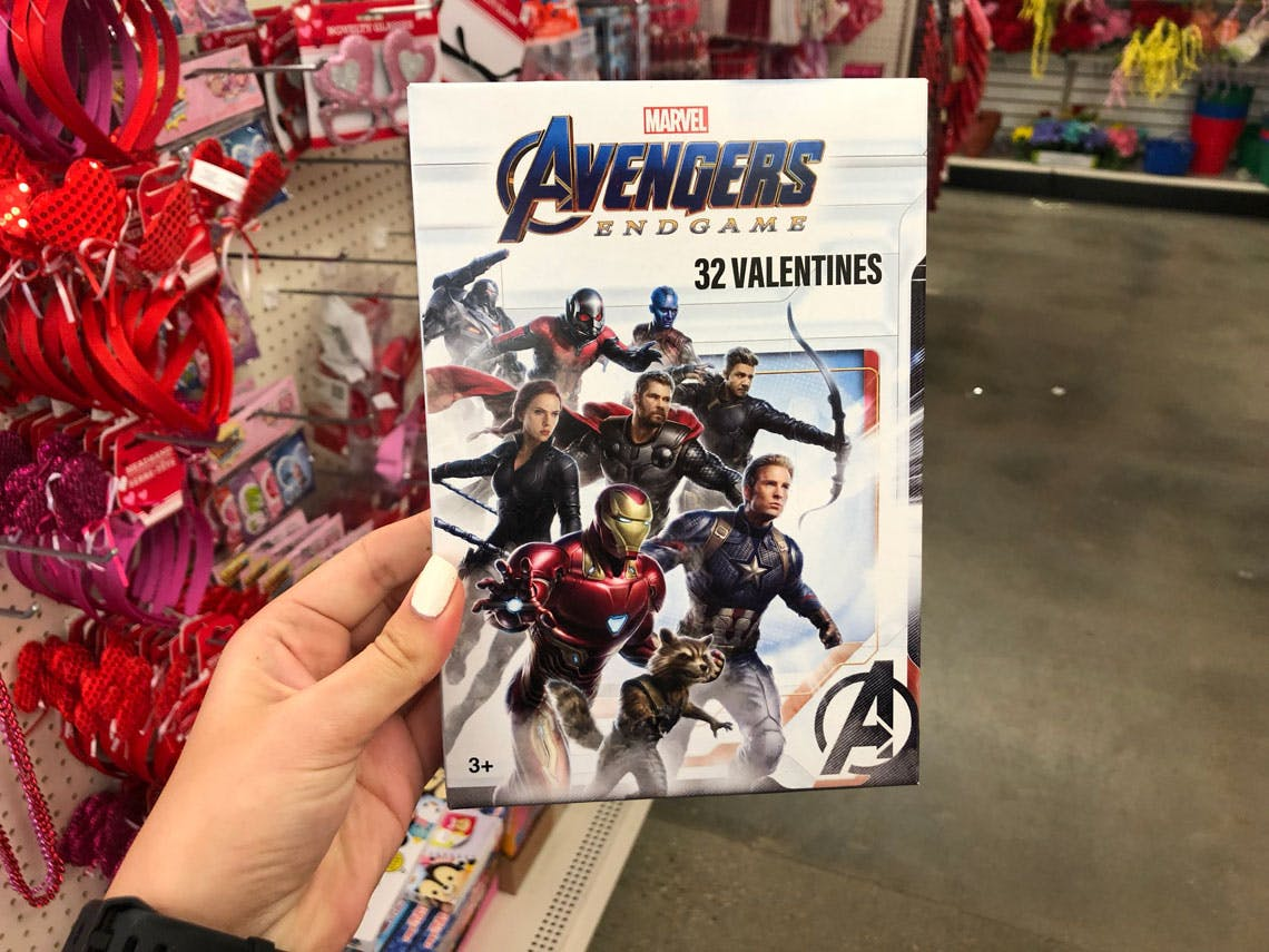 Valentines Day Cards Box of 32 Marvel Avengers Iron Man 3