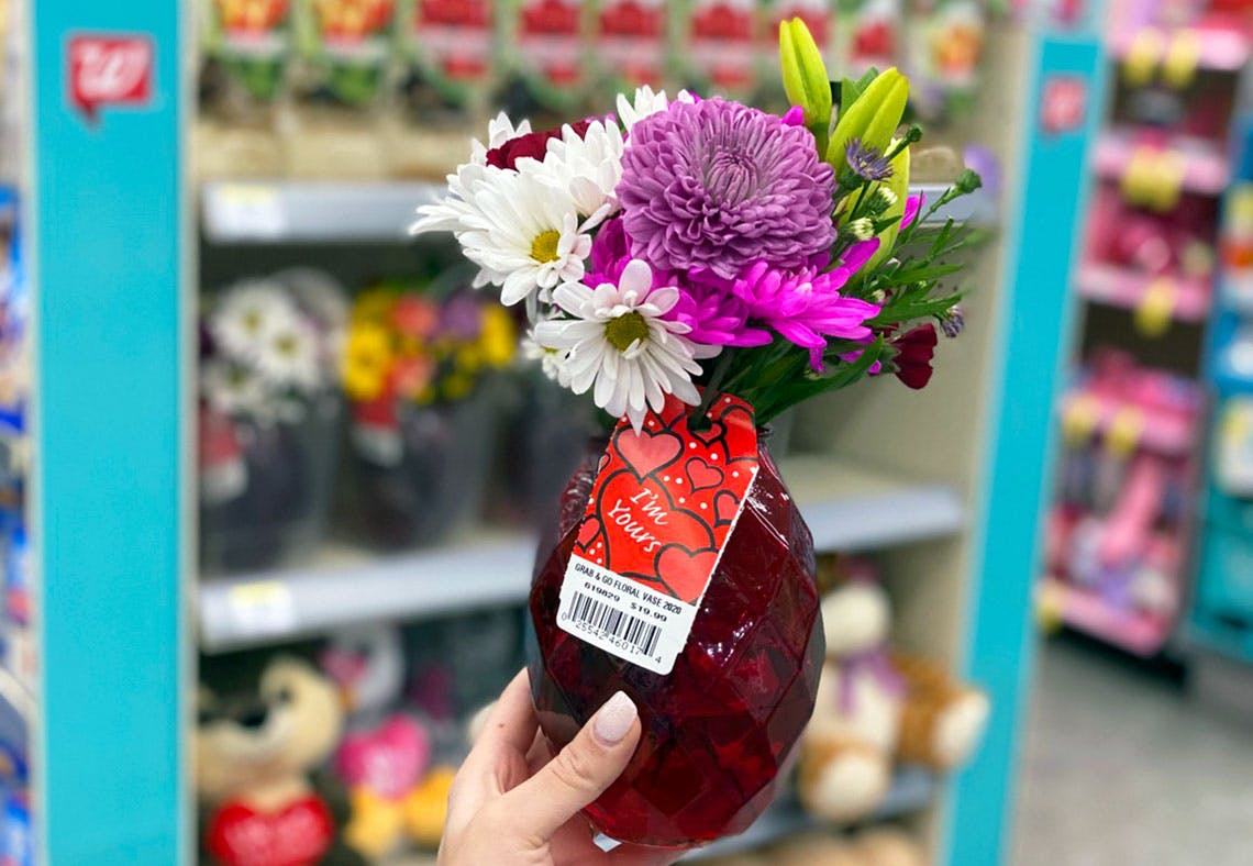 Plant In A Vase Sold At Walgreen Christmas 2020 Valentine's Day Flowers, as Low as $8.99 at Walgreens   The Krazy