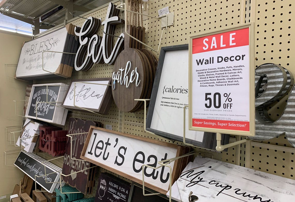 Save 50 On Wall Decor At Hobby Lobby The Krazy Coupon Lady