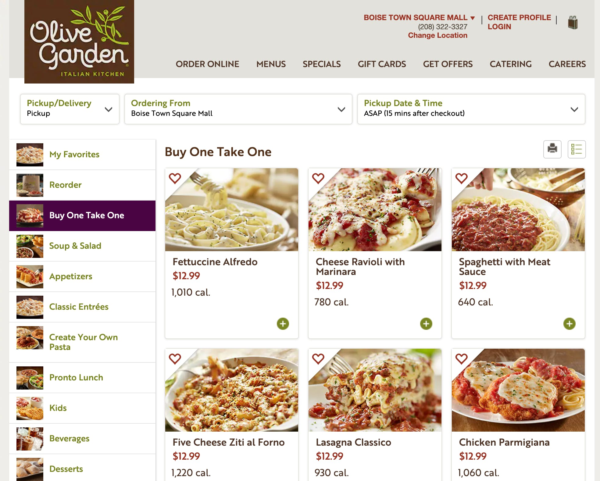 Olive Garden Offering Bogo Entrees With Curbside Pickup The Krazy Coupon Lady