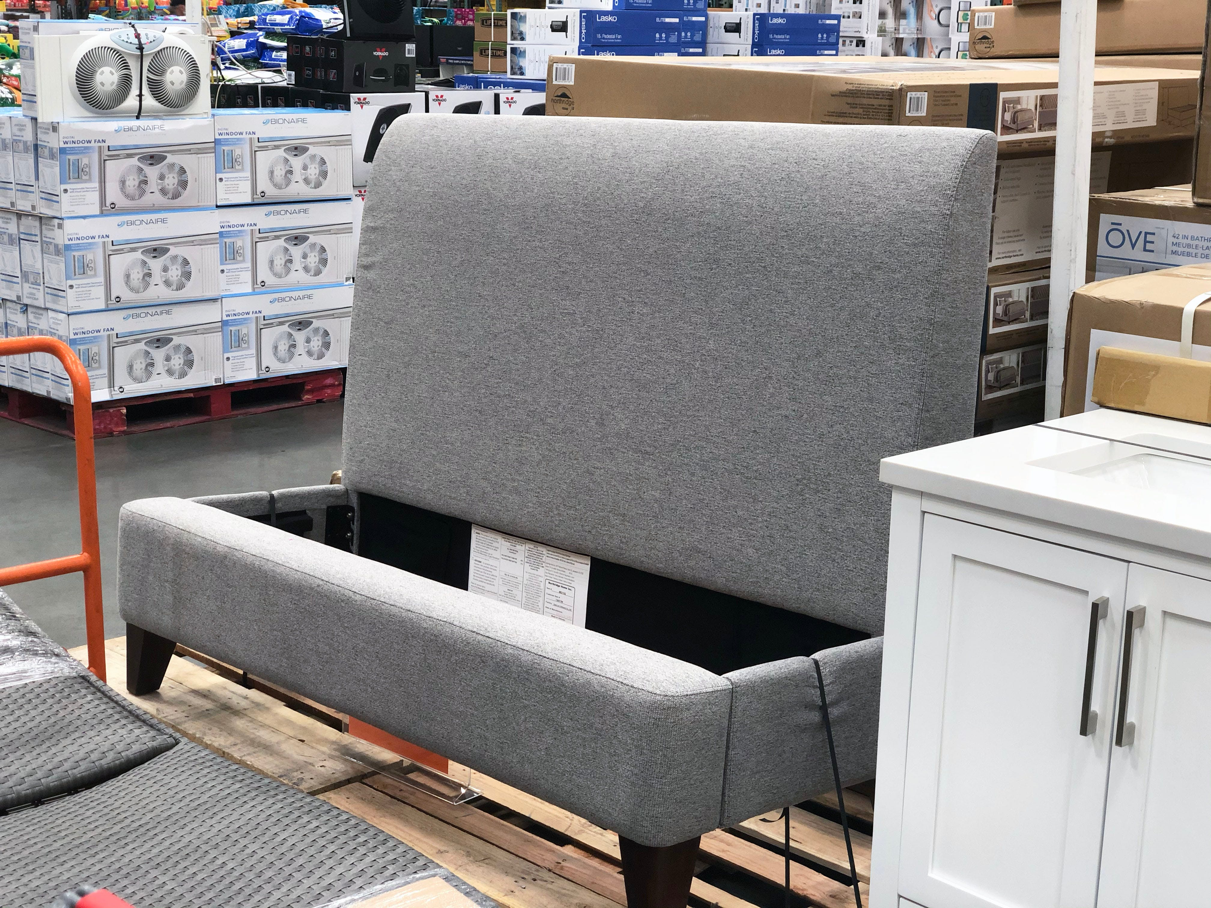 Upholstered Queen Bed Only 299 99 At Costco The Krazy Coupon Lady